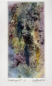 Snapdragon 2 - monotype by Jon Lybrook